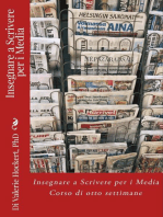 Insegnare a Scrivere per i Media - Corso di Otto Settimane