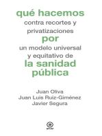 Qué hacemos por la sanidad pública