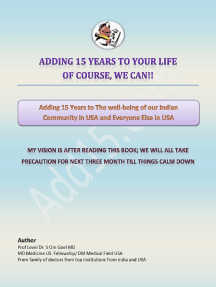 English E-book Adding 15 Years to The Wellbeing of Our Indian Community In USA and Everyone Else In USA
