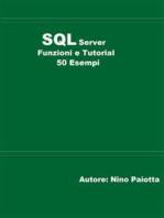 SQL Server Funzioni e tutorial 50 esempi