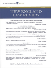 New England Law Review: Volume 51, Number 1 - Winter 2017
