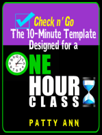 Check n' Go > 10-Minute Class Plan Template for a 1 Hour Class