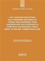 Dall'insulino-resistenza alla sindrome metabolica