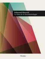 La idea de la fenomenología