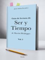 Guía para la lectura de Ser y Tiempo de Heidegger ( vol. 1)