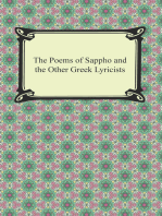 The Poems of Sappho and the Other Greek Lyricists