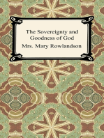 The Sovereignty and Goodness of God