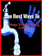 The Best Ways To Stop The Money Leak