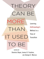 Theory Can Be More than It Used to Be: Learning Anthropology's Method in a Time of Transition