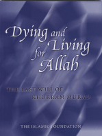 Dying and Living for Allah