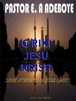 Oriki Jesu Kristi (Divine Attributes of Jesus Christ)