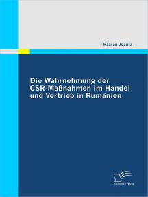 Die Wahrnehmung der CSR-Maßnahmen im Handel und Vertrieb in Rumänien