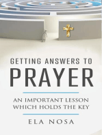 Getting Answers to Prayer