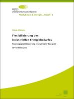 Flexibilisierung des industriellen Energiebedarfes