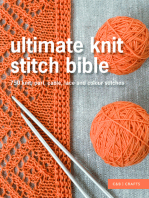 Ultimate Knit Stitch Bible: 750 knit, purl, cable, lace and colour stitches