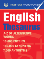 Webster's Word Power English Thesaurus: A-Z of Alternative Words