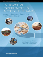 Innovative Experiences in Access to Finance: Market-Friendly Roles for the Visible Hand?
