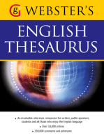 Webster's American English Thesaurus: With over 10,000 entries, and 350,000 synonyms and antonyms (US English)