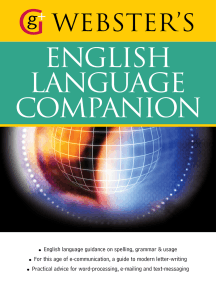 Webster's English Language Companion: English language guidance and communicating in English (US English)