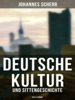 Deutsche Kultur- und Sittengeschichte (Alle 3 Bände)