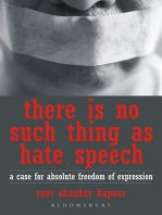 There Is No Such Thing As Hate Speech