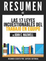Las 17 Leyes Incuestionables Del Trabajo En Equipo (The 17 Essential Qualities Of A Team Player) - Resumen Del Libro De John C. Maxwell