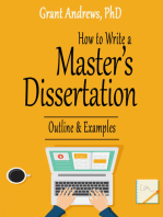 How to Write a Master's Dissertation