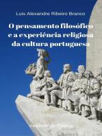 O pensamento filosófico e a experiência religiosa da cultura portuguesa