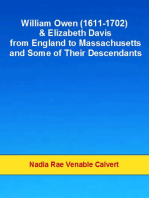 William Owen and Elizabeth Davis from England to Massachusetts and Some of Their Descendants