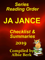 J.A. Jance Best Reading Order with Checklist and Summaries