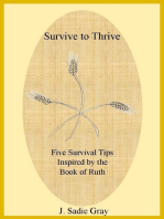 Survive to Thrive - Five Survival Tips Inspired By the Book of Ruth