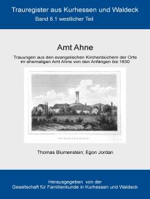 Amt Ahne: Teil 1: Westlicher Teil