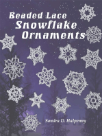 Beaded Lace Snowflake Ornaments