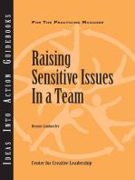 Raising Sensitive Issues in a Team