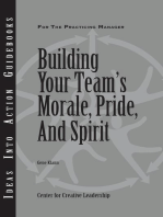 Building Your Team's Moral, Pride, and Spirit