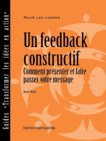 Feedback That Works: How to Build and Deliver Your Message (French)