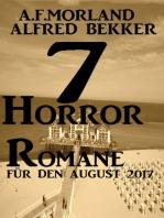 7 Horror-Romane für den August 2017