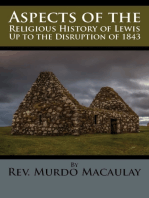 Aspects of the Religious History of Lewis Up to the Disruption of 1843