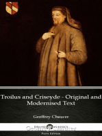 Troilus and Criseyde - Original and Modernised Text by Geoffrey Chaucer - Delphi Classics (Illustrated)