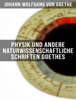 Physik und andere naturwissenschaftliche Schriften Goethes