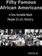 Fifty Famous African Americans - A Few Notable Black People In U.S. History
