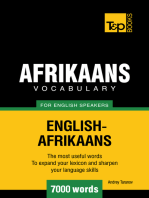 Afrikaans vocabulary for English speakers