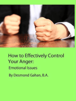 How to Effectively Control Your Anger