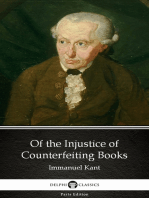 Of the Injustice of Counterfeiting Books by Immanuel Kant - Delphi Classics (Illustrated)