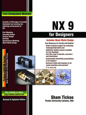 NX 9 0 for Designers by Sham Tickoo - Read Online
