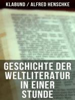 Geschichte der Weltliteratur in einer Stunde
