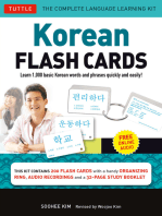 Korean Flash Cards Kit Ebook: Learn 1,000 Basic Korean Words and Phrases Quickly and Easily! (Hangul & Romanized Forms) (Downloadable Audio Included)