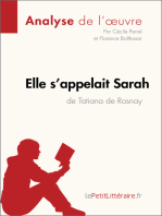 Elle s'appelait Sarah de Tatiana de Rosnay (Analyse de l'oeuvre)