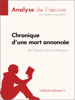 Chronique d'une mort annoncée de Gabriel García Márquez (Analyse de l'oeuvre)