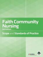 Faith Community Nursing: Scope and Standards of Practice